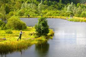 A fisherman enjoying he peace at Glyncorrwg Ponds