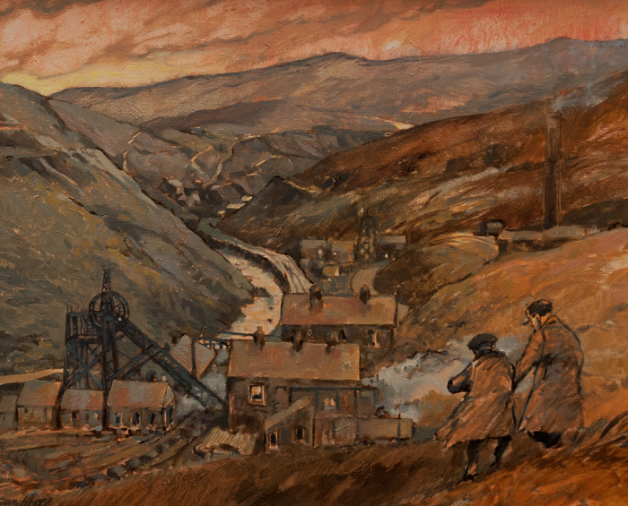 Glyncorrwg Mine by local artist Gary Hammer Rees